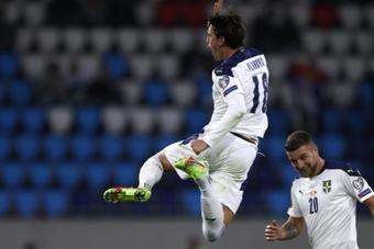 Le Barça pense à Vlahovic. AFP