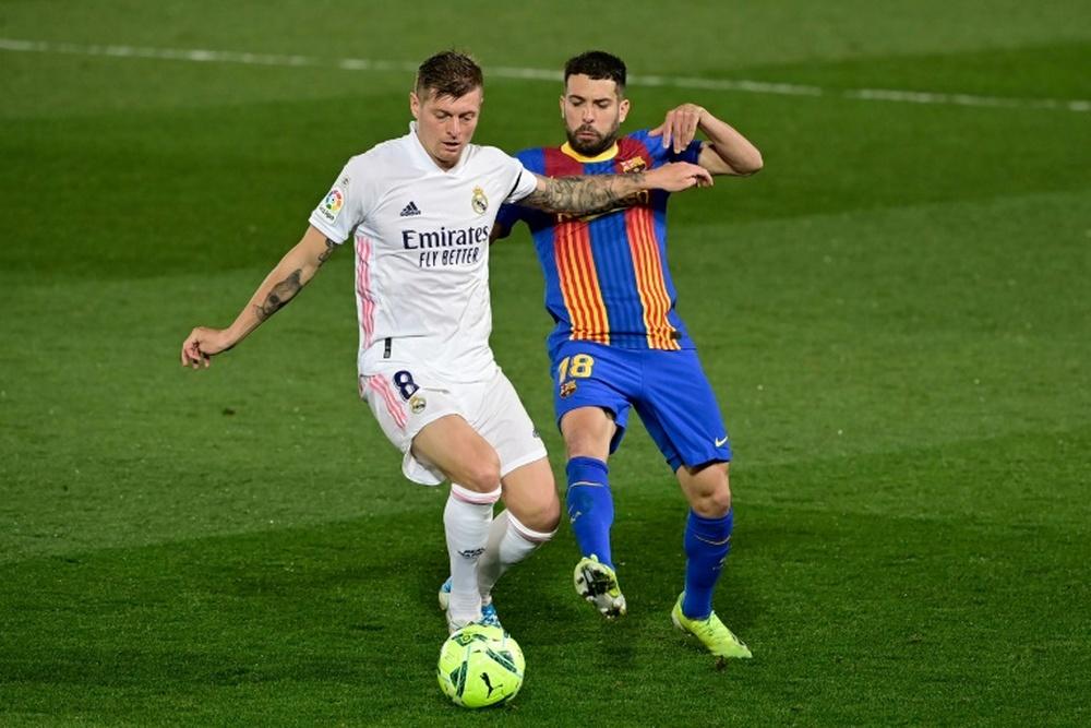 Jordi Alba llegará a la Champions League. AFP