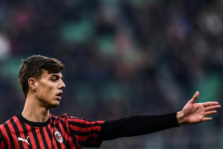 Première titularisation en Serie A pour Daniel Maldini avec l'AC Milan. AFP