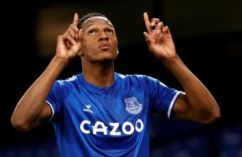 Yerry Mina forfait contre Watford. afp