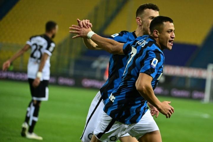 El Inter confía en tener a Alexis ante el Madrid. AFP