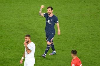 El Manchester City es una de las víctimas favoritas de Messi en la Champions. AFP