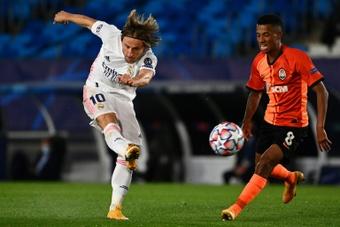 Escalações confirmadas de Shakhtar e Real Madrid. AFP