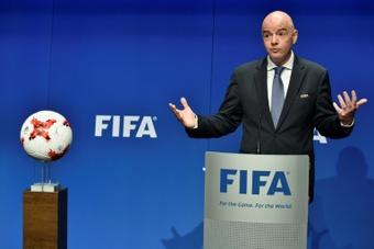 La FIFA informó a las federaciones sobre la celebración de un Mundial cada dos años. AFP