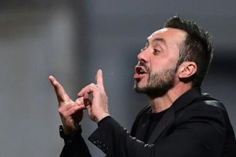De Zerbi elogió a Ancelotti. AFP