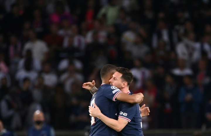 Mbappe let 'the best in the world' take the penalty. AFP