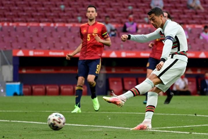 Cristiano, favori pour le Soulier d'or malgré son égalité avec Schick. AFP