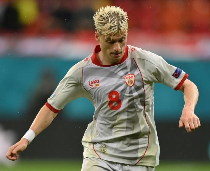 Alioski jugó la Eurocopa con Macedonia del Norte. AFP