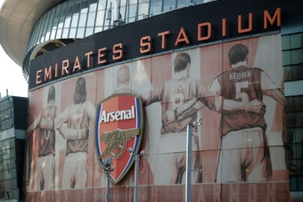 Vue partielle de l'Emirates Stadium. AFP