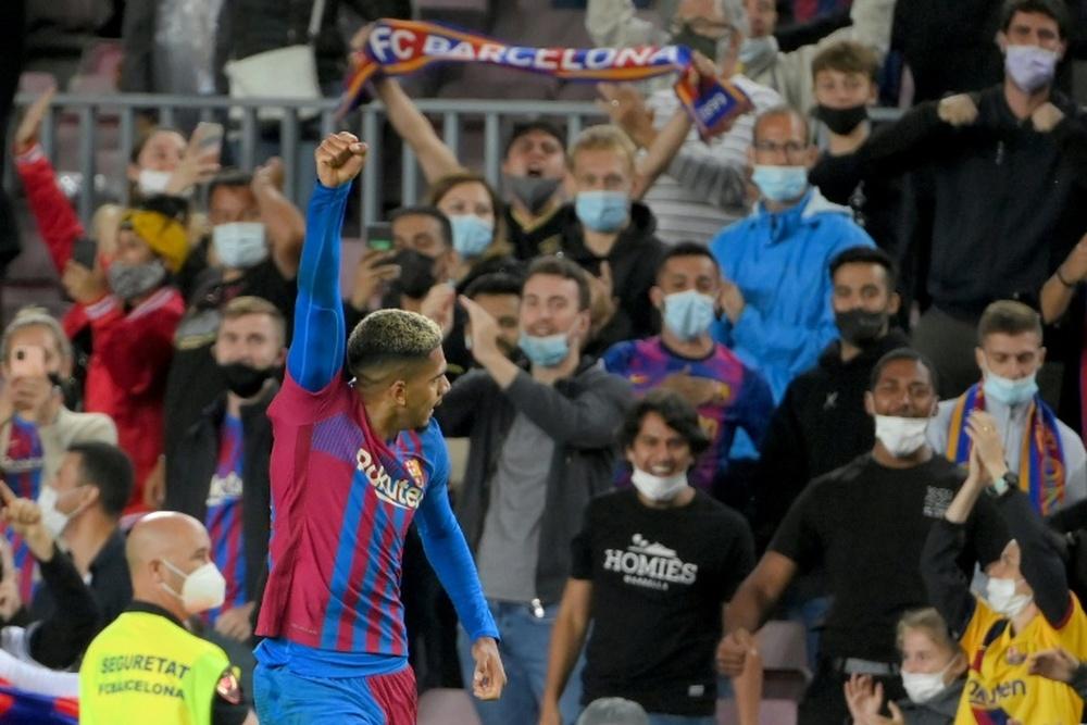 Araujo regala un punto in extremis al Barça. AFP