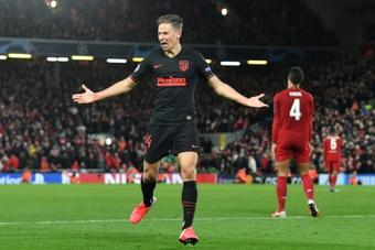 El Atlético se enfrenta al Liverpool en la Champions. AFP