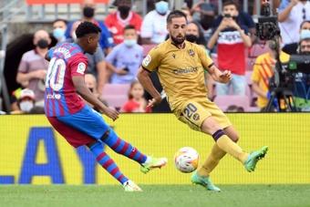 Ansu Fati tem contrato com o Barcelona até o verão de 2022. AFP