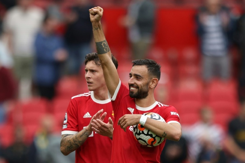 A renovação de Bruno Fernandes, prioridade absoluta para o United. AFP