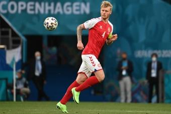Kjaer falou sobre a situação de Eriksen. AFP