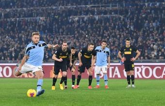 Escalações confirmadas de Lazio e Inter de Milão. AFP