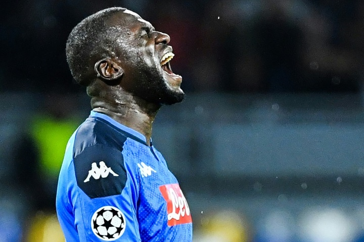 Koulibaly, indignado ante insultos racistas. AFP