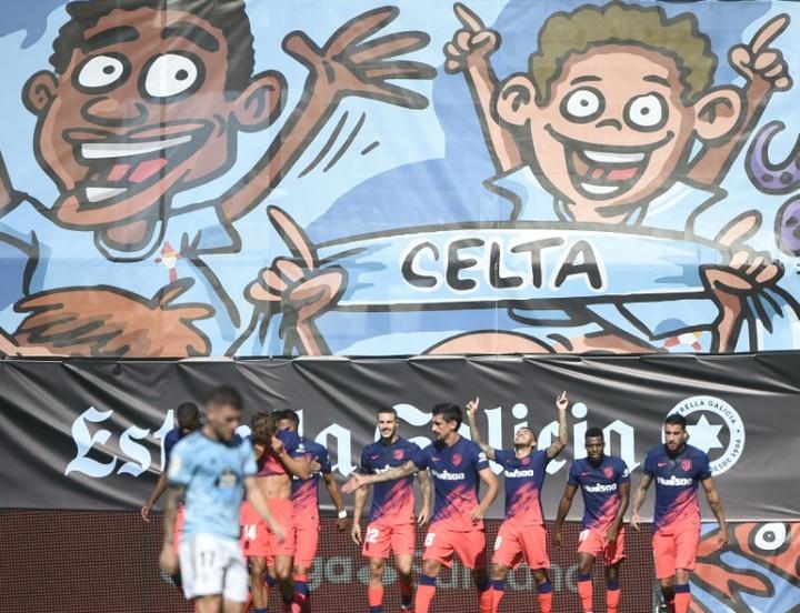 Correa sauve la reprise d'un Atlético bagarreur. AFP