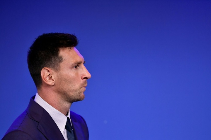 Messi left Barca after the club failed to process his renewal. AFP