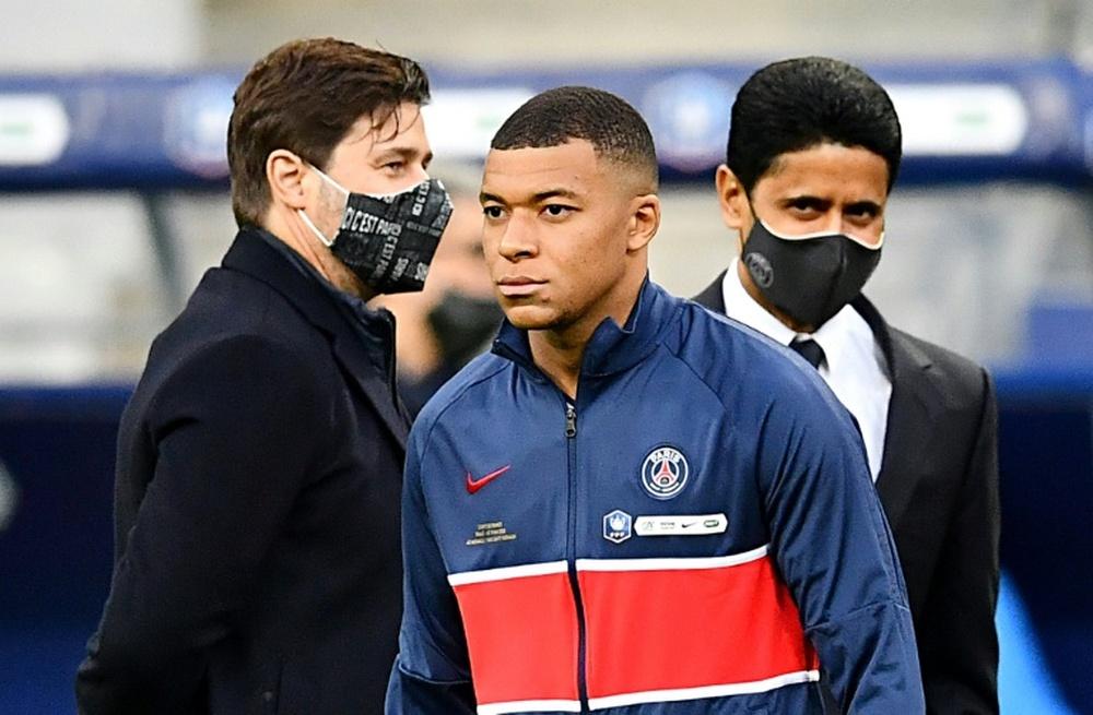 Pochettino confía en que el PSG renueve a Mbappé. AFP