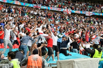 Wembley stadium will host around 60,000 supports for the Euro 2020 semis and final. AFP