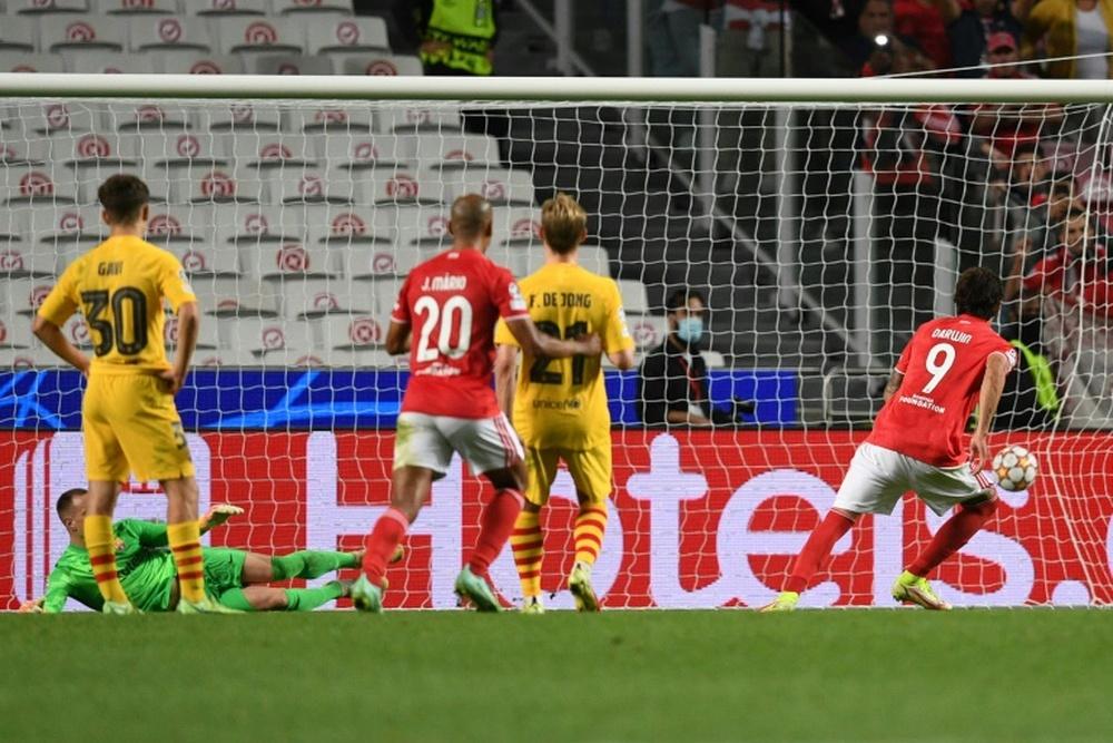 Il Barça cade rovinosamente a Lisbona. AFP