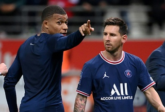 Lionel Messi made his PSG debut as a second-half substitute. AFP