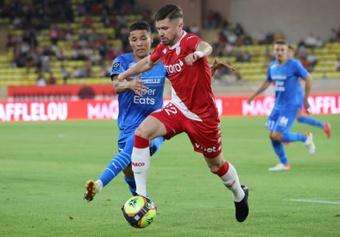 Le défenseur Caio henrique durant la rencontre de Ligue 1 entre Monaco et Marseille. AFP