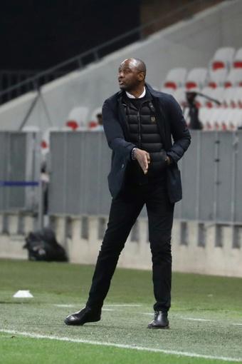 Le Français Patrick Vieira, alors entraîneur de Nice. AFP