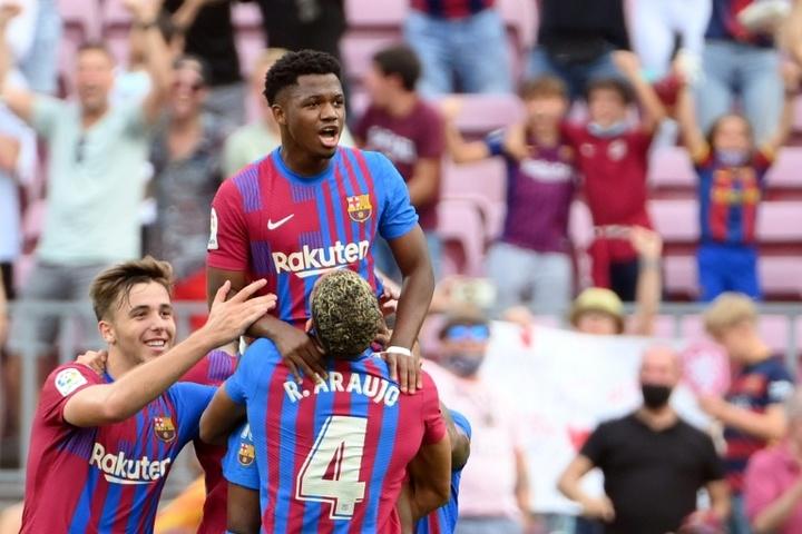 Ansu Fati is Barcelona fans' great hope. AFP