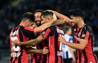 Bayer Leverkusen chega em grande momento para a Liga Europa. AFP