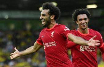 Salah se reunió con su agente: ¿renovación a la vista? AFP