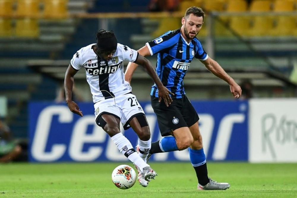 L'Inter Milan a trouvé un remplaçant pour De Vrij. AFP