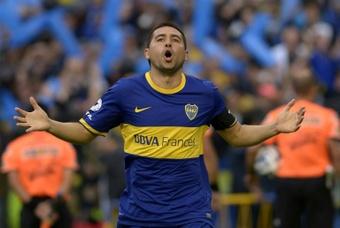 Riquelme, uno de los responsables de la Maradona Cup. AFP
