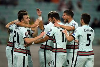 Faltou a goleada a Portugal em Bakú.AFP