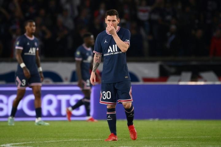 Messi got injured in PSG's win over Lyon. AFP