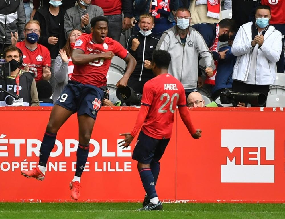 Lille conseguiu sua primeira vitória na temporada da Ligue 1. AFP