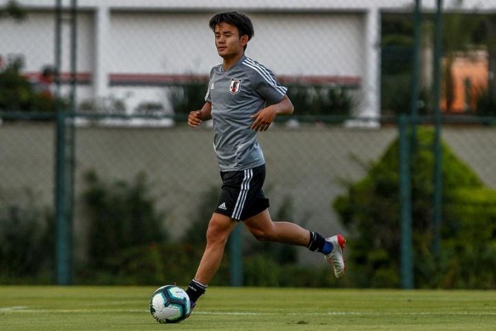 Kubo se reivindica en casa: los Juegos, su razón para convencer a Ancelotti. AFP