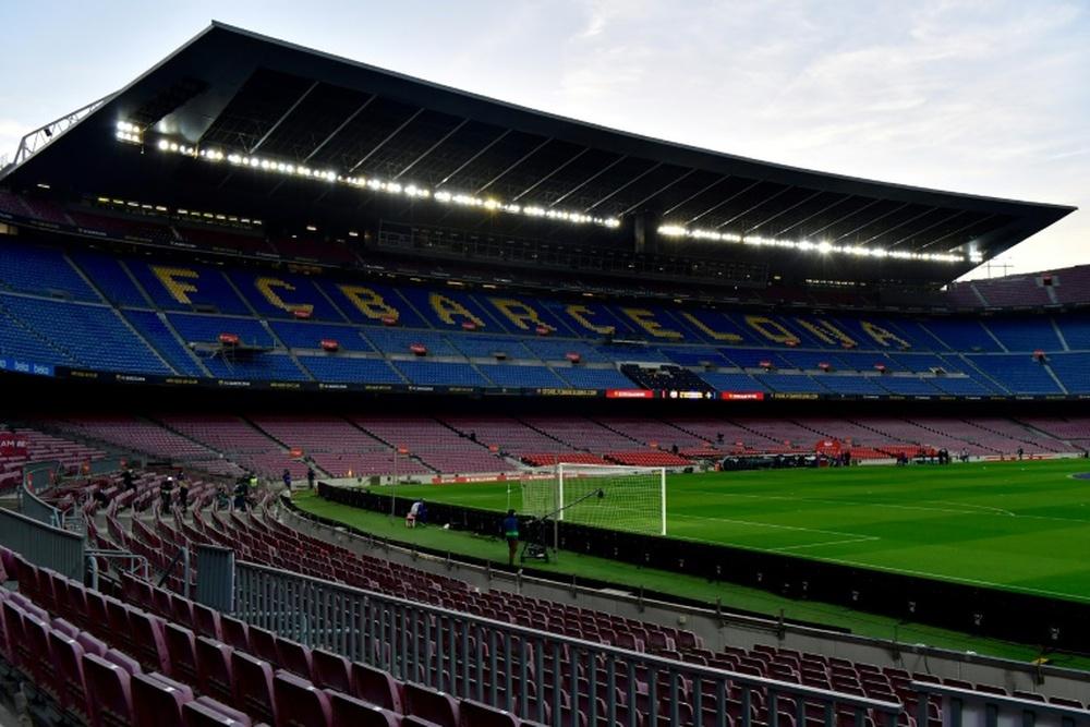 Perigo de desmoronamento em Camp Nou.AFP