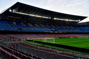Barcelona played matches at the Camp Nou when it was not safe. AFP