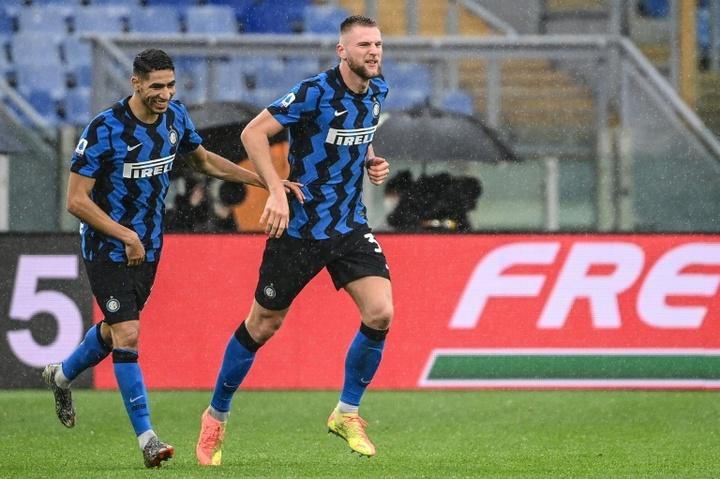 Skriniar, cerca de renovar con el Inter. AFP