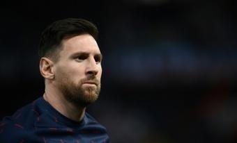Messi, ahora, juega en el PSG. AFP