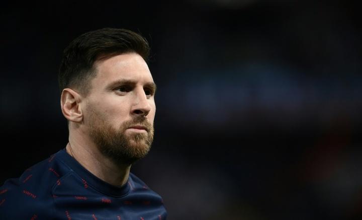 Henry showed his concern for Messi. AFP