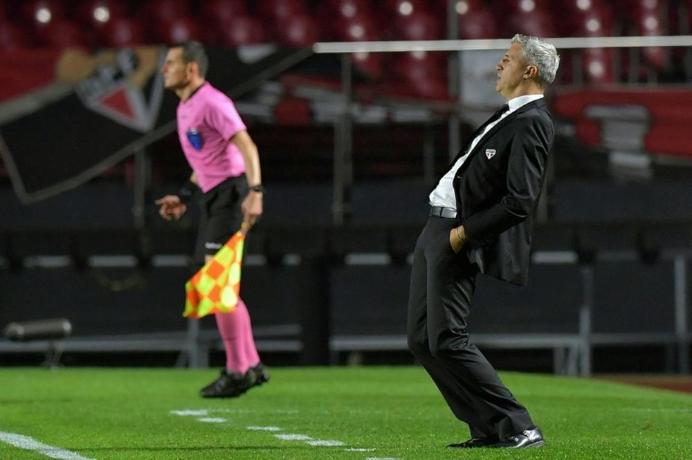 Hernán Crespo fue destituido de Sao Paulo el pasado miércoles. AFP