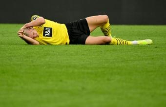 Alarma en Dortmund: Haaland podría estar fuera hasta 2022. AFP