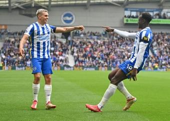 Brighton peut finir la 6e journée en tête de la Premier League. afp