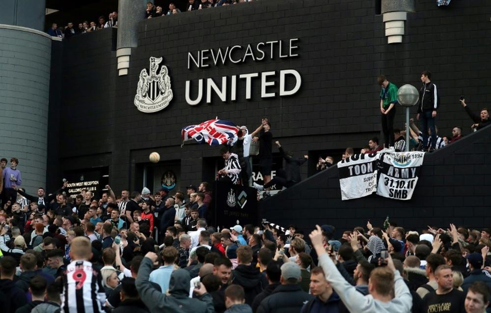 Los 'magpies', encantados con la venta del Newcastle al consorcio árabe. AFP/Archivo