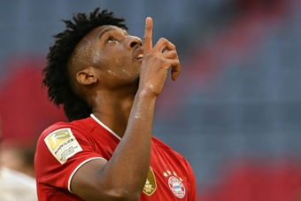 Kingsley Coman suena para abandonar el Bayern. AFP