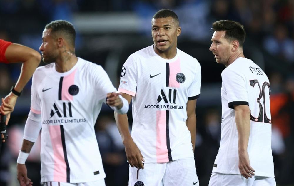 Al PSG le llovieron las críticas tras el partido contra el Brujas. AFP