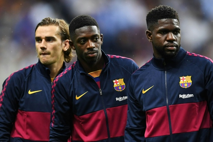 Barcelona have made comments on the racist controversy involving Griezmann and Dembele. AFP