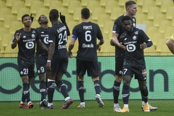 El Lille ganó al Dijon. AFP